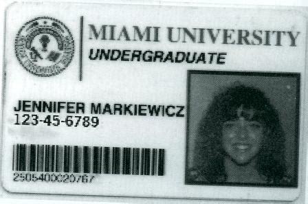 miami universit student card template miami class of 1995 remember when