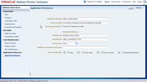 tutorial oracle bpm 12c managing process workspace for administrators