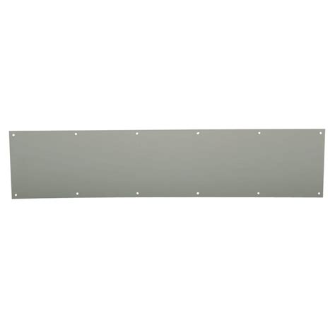 Interior Door Kick Plates Schlage 8 In X 34 In Satin Stainless Steel Commercial Kick Plate 589337 The Home Depot