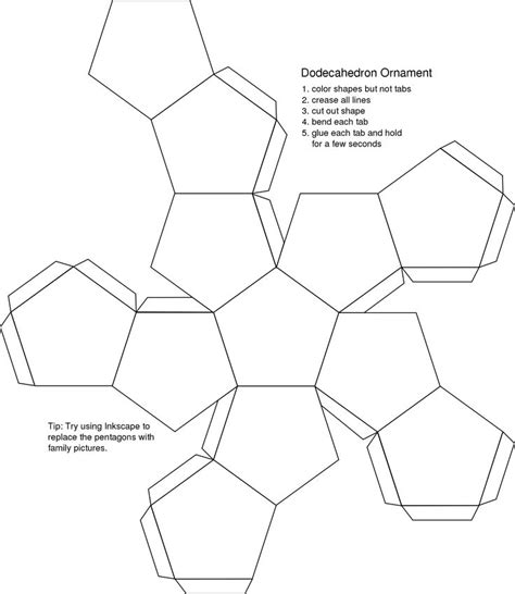 How To Make A Dodecahedron Out Of Paper - best 25 dodecahedron template ideas on book