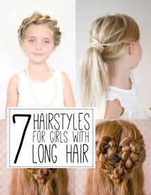 Hairstyle For Long Hair Girls by 7 Hairstyles For Girls With Long Hair