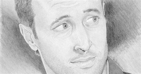 Sketches O Loughlin by My Drawing Of Alex O Loughlin Who Plays Steve On