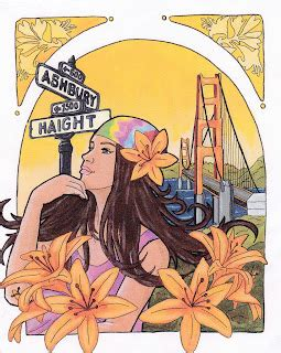 san francisco flowers in your hair geeky girl art quot san francisco be sure to wear flowers in