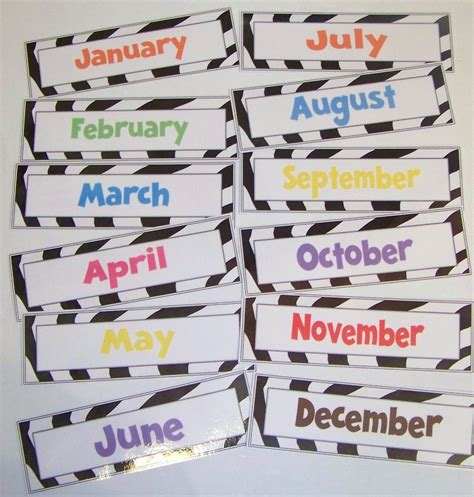 zebra printable calendar doodle bugs teaching first grade rocks days of the