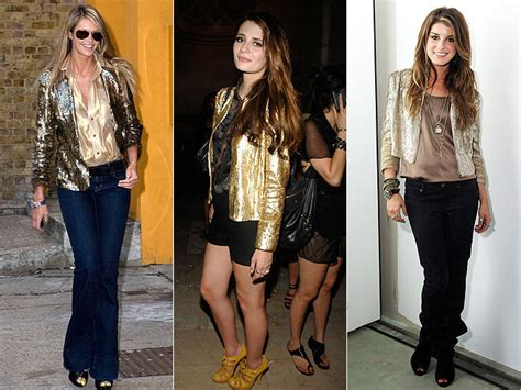 Would You Wear Mischa Bartons Clothes by Would You Wear These Trends Gold Sequined Blazers