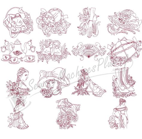 victorian designs red work on pinterest embroidery patterns primitive