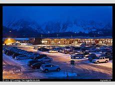 Picture/Photo: Jackson Hole airport at night. Grand Teton ... Jackson Hole Wyoming Airport