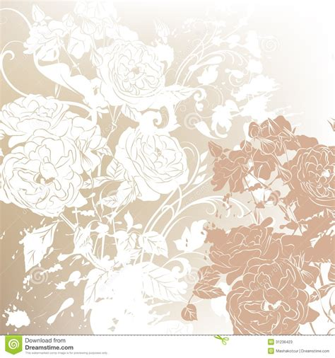 Vector Backgrounds With Roses For Invitations wedding background with roses silhouettes stock photos image 31236423