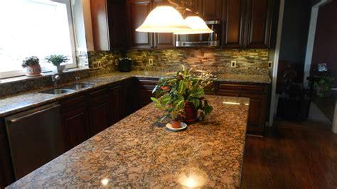 giallo fiorito granite with oak cabinets canton kitchen traditional kitchen detroit by