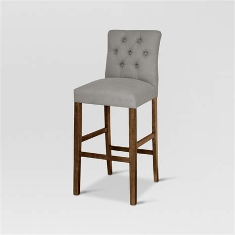 threshold brookline tufted dining chair glacier brookline tufted 30 quot barstool chestnut finish glacier