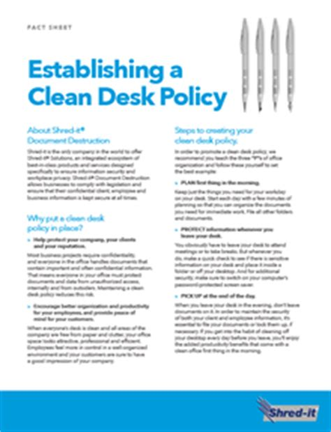 clean desk memo office just b cause