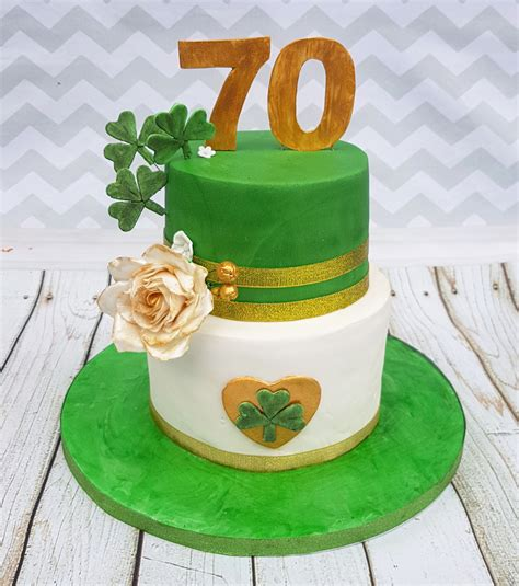 themed birthday cakes uk 70th irish themed birthday cake cakes by mehwish