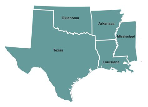 map of arkansas and texas map of texas arkansas oklahoma and louisiana map