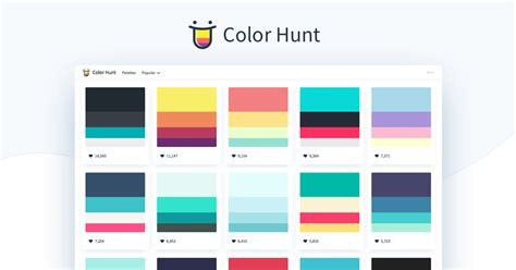color hunt color hunt color palettes for designers and artists