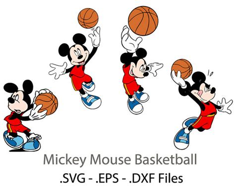 mickey mouse basketball clipart clipartxtras