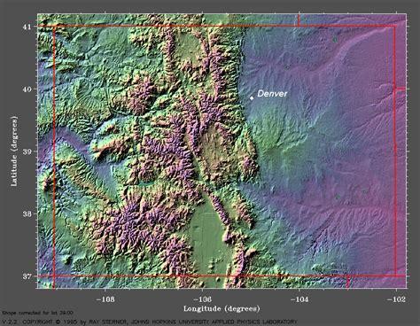 colorado mountains map climatology for denver colorado meteorology 410