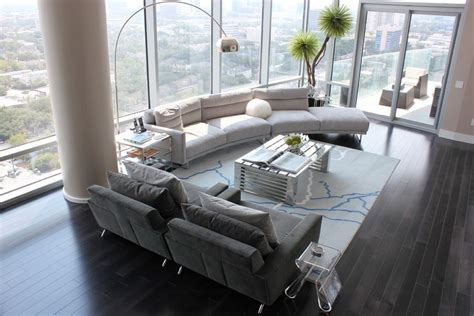 small condo with big definition contemporary living how to find the perfect place for your curved sofa or