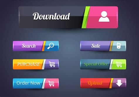 free web web button free vector 31753 free downloads