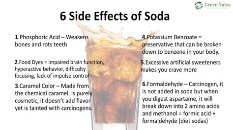 What Side Effects Does Detoxing From Soda by 6 Side Effects Of Soda