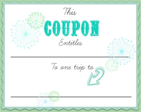 coupon maker template free babysitting coupon cake ideas and designs