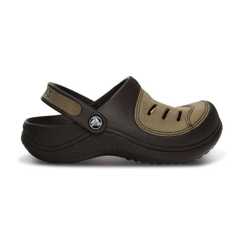 slip on clogs for crocs yukon clog espresso espresso leather topped