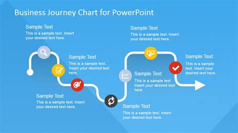 Powerpoint Templates For Journey | flat business journey chart powerpoint template slidemodel