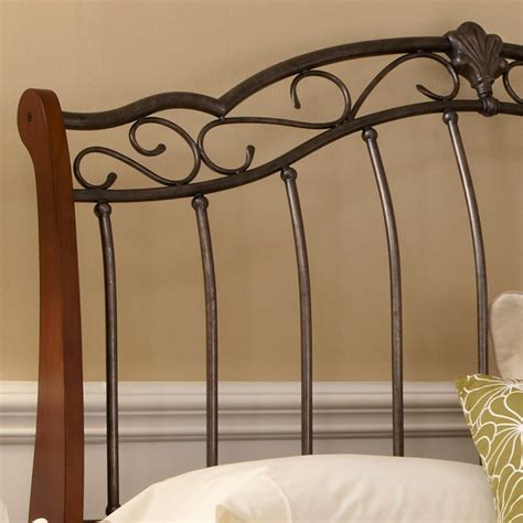 Wood And Metal Headboard Amisco 14393 Fargo Metal And