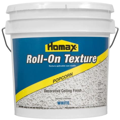 Homax Ceiling Texture Popcorn by Homax 2 Gal White Popcorn Roll On Texture Decorative