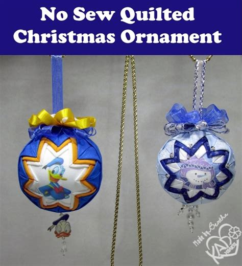 easy no sew christmas quilted ornaments