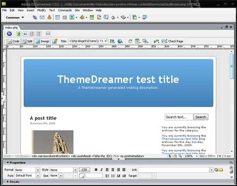 wordpress layout problem themedreamer wordpress theme editor problem william