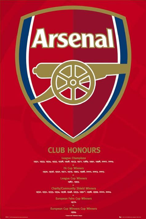 arsenal honours arsenal poster arsenal posters calendar toy action
