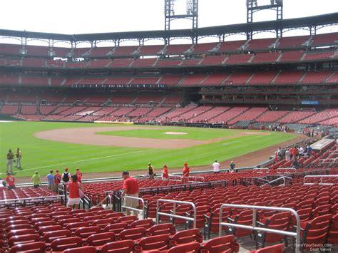 busch stadium section 163 field level outfield busch stadium baseball seating