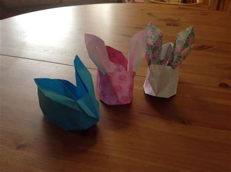 origami bunny basket origami rabbit baskets