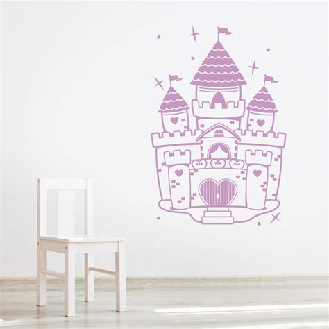 castle wall sticker princess castle wall decal r wall decal