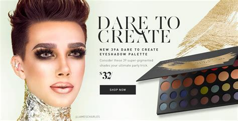 james charles palette name of shades morphe 39a dare to create eyeshadow palette new in box