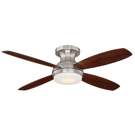 wifi enabled ceiling fan ge pierson 52 in led indoor brushed nickel ceiling fan