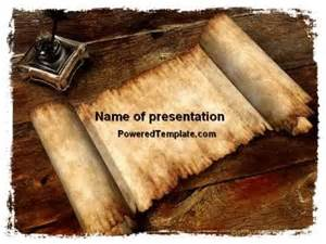 ancient scroll template ancient scroll powerpoint template by poweredtemplate