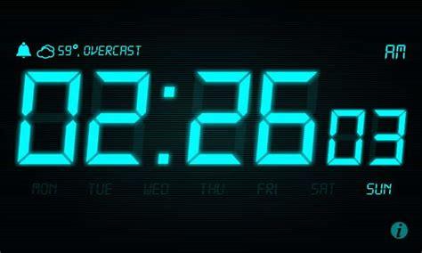 app des tages stand clock uhr mit wetteranzeige - Nachttisch Uhr App