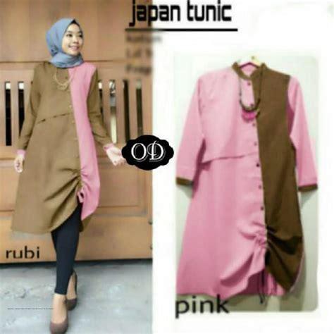 Gamis Tunik baju gamis modern japan tunik grosir baju muslim pakaian