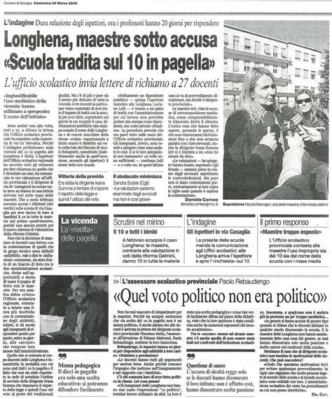 ufficio scolastico provinciale bologna longhena maestre sotto accusa scuola tradita sul 10 in