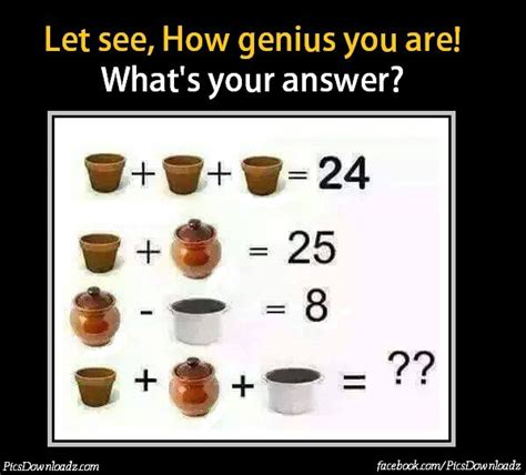 How To Be A Genius Your Brain And How To It simple addition subtraction maths puzzle pics with answers math puzzles pics story