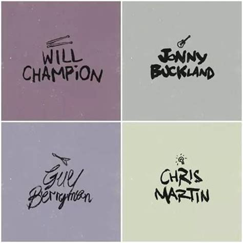 coldplay names first time i ve ever seen their first and last names