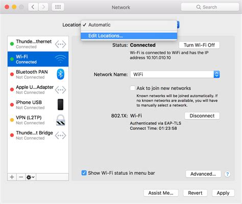 Network Reset On Mac | how to use network locations on your mac apple support