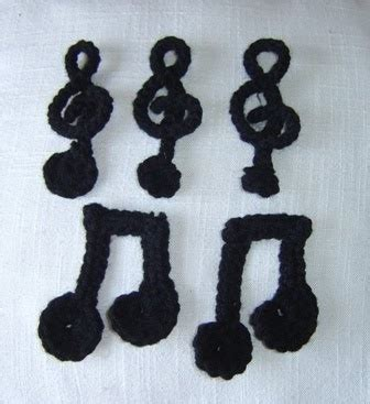 crochet pattern music notes enthusiastic crochetoholic crochet doodles