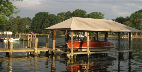 boat house com sticks stones a traditional les cheneaux crib dock