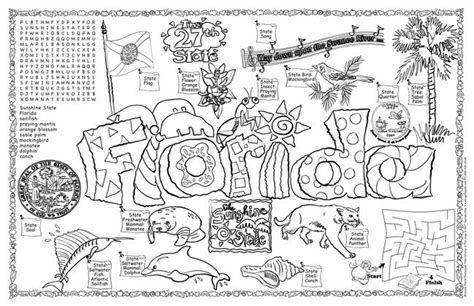 florida state flag coloring sheet symbols of florida
