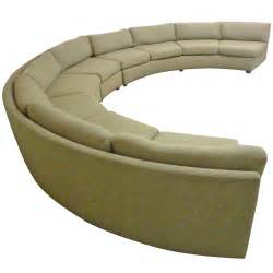 large curved milo baughman sectional sofa at 1stdibs