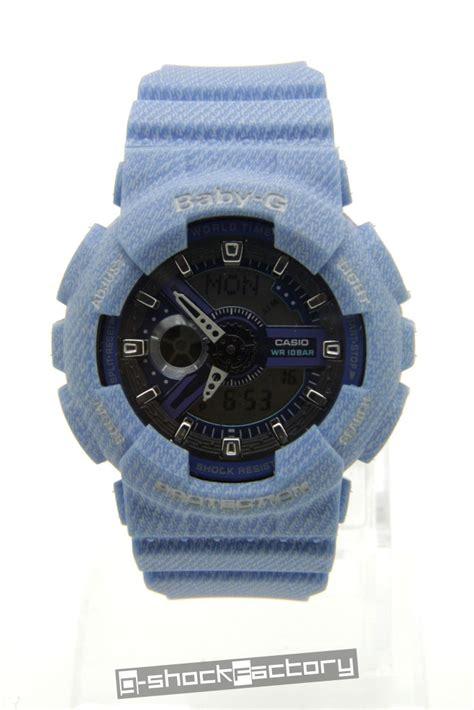 Baby G Ba 110 Blue g shock baby g ga 110dc ba 110dc denim blue set by www g shockfactory