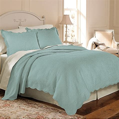 bed bath and beyond coverlet set matelasse coventry coverlet set in aqua bed bath beyond