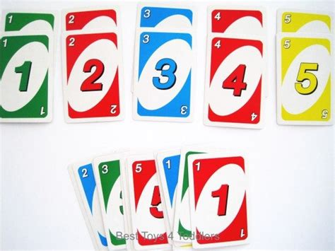 Uno Number 5 learning ideas with uno cards adapted for toddlers